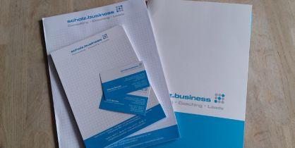 Für scholz.business aus Peine haben wir diverse Drucksachen erstellt.