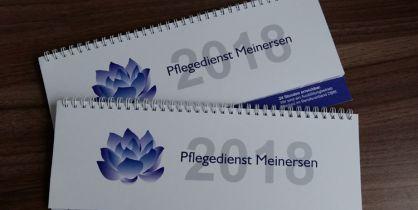 Für den Pflegedienst Meinersen haben wir Tischquerkalender erstellt.